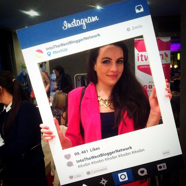 Me in the #itwbn Instagram frame. Photo via my instagram @Jess__Thompson