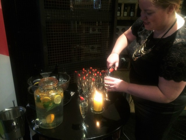 The lovely Gill Carroll pouring us some delicious prosecco and elderflower cocktails. Photo: Jessica Thompson