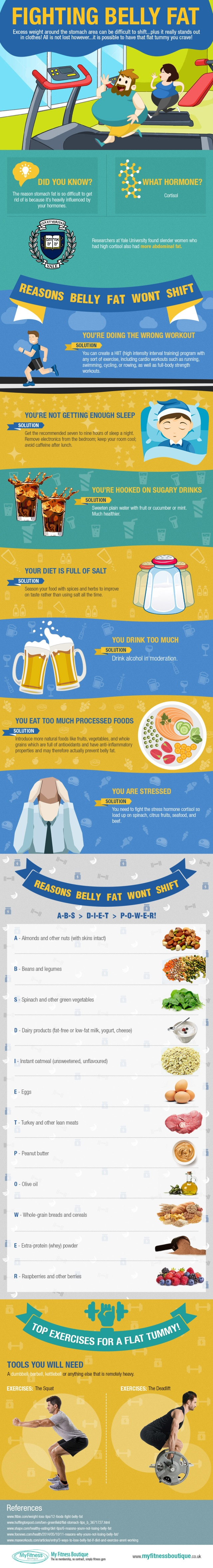 Fighting Belly Fat Infographic